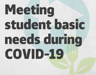 Meeting student basic needs during COVID-19